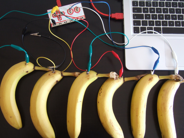 Banana Keyboard with MaKey MaKey