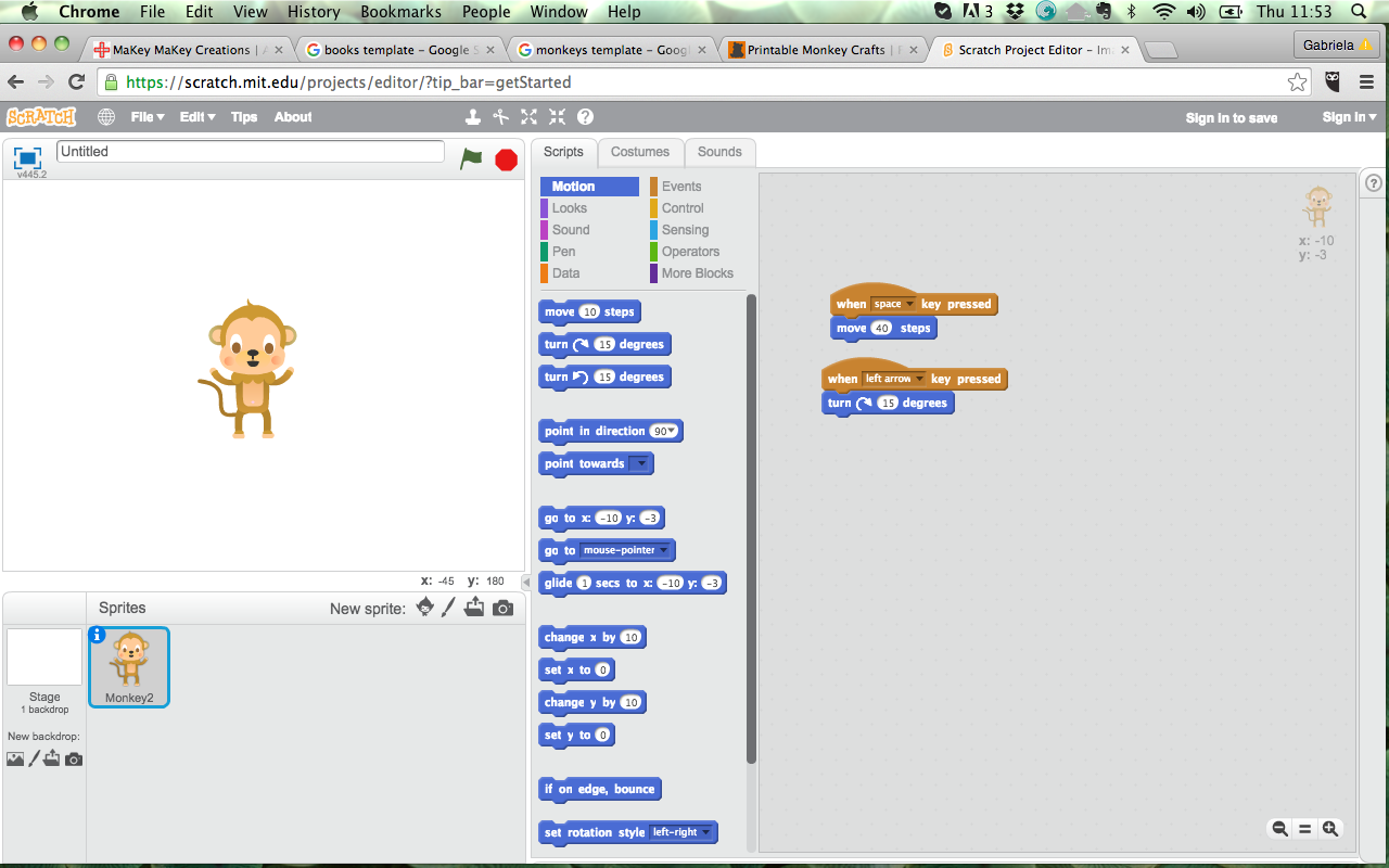 Scratch and Makey Makey 2